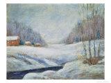 Winter Landscape Giclee Print by John Henry Twachtman