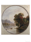 Autumn River View Reproduction procédé giclée par Jasper Francis Cropsey