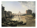 Rome, Castel San Angelo Giclee Print by Silvestre Chedrin