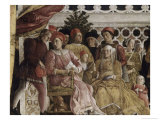 Detail of Camera Degli Sposi: the Court Giclee Print by Andrea Mantegna