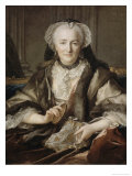 Portrait of Madame Dange, c.1753 Giclee Print by Louis M. Tocque