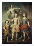 Three Sons of the Second Duke of Berwick Giclee Print by Carle Vanloo