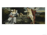 Sacred and Profane Love Giclée-tryk af Titian (Tiziano Vecelli)