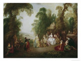 The Dance Giclee Print by Jean-Baptiste Pater