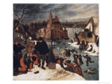 Winter Landscape, no.3 Lámina giclée por Pieter Brueghel the Younger