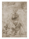 Madonna and Child with John Reproduction procédé giclée par Raphael