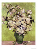 Vase of Roses Giclée-tryk af Vincent van Gogh