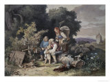 The Shepherd's Family Giclee Print by Ludwig Richter