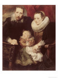 Family Group Giclee Print by Sir Anthony Van Dyck