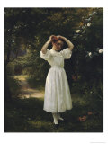 Flower Girl Giclee Print by John George Brown