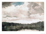 Lone Boat, North Woods Club, Adirondacks Giclee Print by Winslow Homer