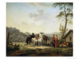 The Relaxation of the Cavalrymen Giclee Print by Jacques Francois Joseph Swebach