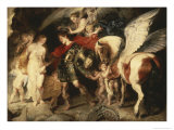 Perseus Liberating Andromeda Giclee Print by Peter Paul Rubens