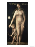 Venus and Amor Giclee Print by Lucas Cranach the Elder