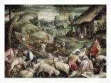 Summer, c.1570-1580 Giclée-tryk af Francesco Bassano