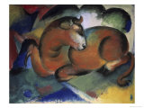 Red Bull, Aun Taureau Rouge Giclee Print by Franz Marc
