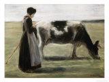Das Madchen Mit Der Kuh Giclee Print by Max Liebermann