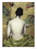 Back of Nude Premium Giclee Print by William Merritt Chase