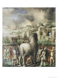 Trojan Horse Giclee Print by Nicolò dell' Abate