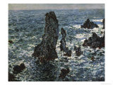 Rocks at Belle Isle Giclee Print by Claude Monet