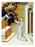 St. Catherine Invested with the Dominican Scapula Gicle-tryk af Giovanni di Paolo