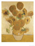 Tournesols Reproduction proc&#233;d&#233; gicl&#233;e par Vincent van Gogh