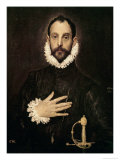 Knight with His Hand on His Breast Giclee Print by  El Greco