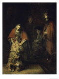 Return of the Prodigal Son, c.1668-69 Giclée-tryk af Rembrandt van Rijn