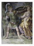 Thetis Arming Achilles Giclée-tryk af Giulio Romano