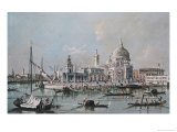 View of the Church of Santa Maria Della Salute Giclee Print by Giacomo Guardi