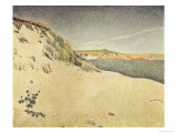 Sandy Ocean Beach Giclee Print by Paul Signac