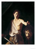 David with the Head of Goliath Giclée-tryk af Caravaggio