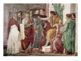 Dispute with Simon Mago Giclée-tryk af Masaccio