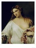 Flora Giclée-tryk af Titian (Tiziano Vecelli)