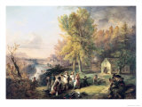 Dismissal of School on an October Afternoon Giclee Print by Henry Inman