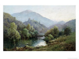 English Mountain Lake Premium Giclee Print by Alfred Fontville de Breanski