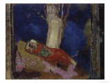 Woman Lying under the Tree Giclee Print by Odilon Redon