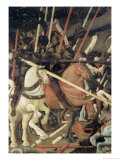 Battle of San Romano Giclée-tryk af Paolo Uccello