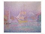 Harbor of Marseille Giclee Print by Paul Signac