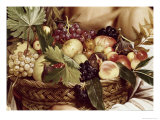 Detail of Boy with Basket of Fruit Premium Giclee Print by  Caravaggio