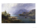 Mountain Lake Giclee Print by Hermann Herzog