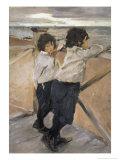 Children Giclee Print by Valentin Aleksandrovich Serov