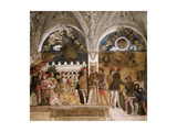 La Camera Degli Sposi: North Wall Giclée-Druck von Andrea Mantegna