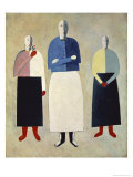 Three Girls Premium Giclee Print by Kasimir Malevich