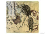 Woman at Her Toilette Giclee Print by Edgar Degas