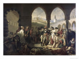 Napoleon Bonaparte Visiting the Plague Strickenat Jaffa Giclee Print by Antoine-Jean Gros