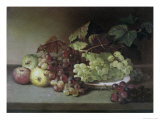 Grapes and Apples Giclee Print by James Peale