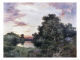 Sunset Giclee Print by Thomas Moran