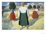 Female Farmers Giclee Print by Kasimir Malevich