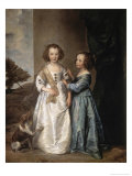 Philadelphia and Elisabeth Wharton Giclée-Druck von Sir Anthony Van Dyck